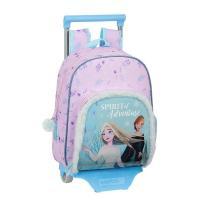 Sac à dos scolaire à roulette SAFTA Frozen II, 1 Compartiment, 1 Poche avec Motif Elsa et Anna