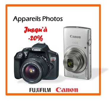 Appareils photos jusqu'à -20%